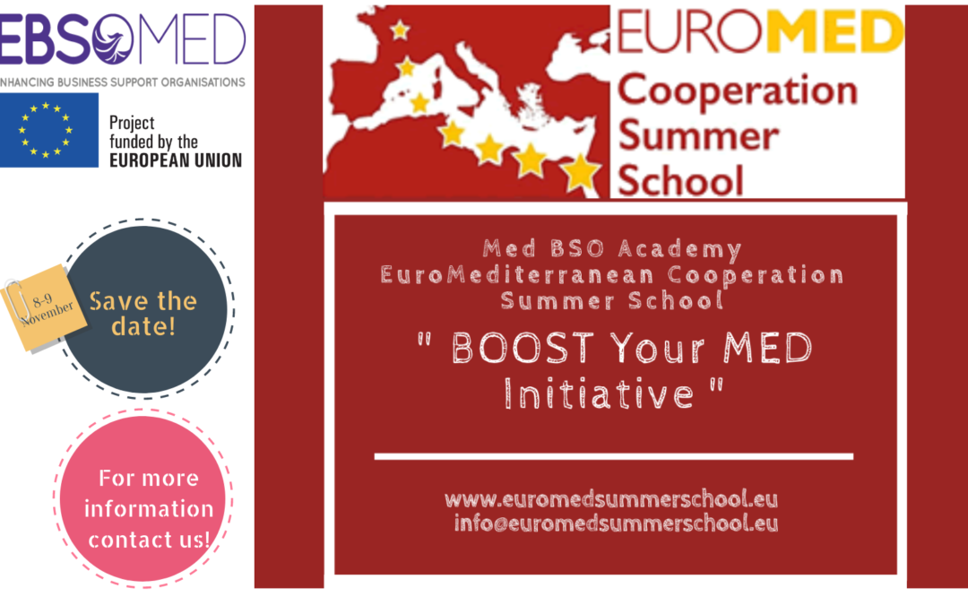 REGISTRATION Med BSO Academy Summer School 2018 is NOW O P E N !